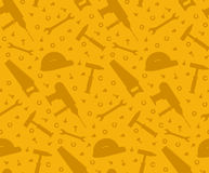 Construction tools seamless background Royalty Free Stock Image