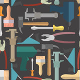 Construction tools seamless Pattern.  Vector background Royalty Free Stock Photography