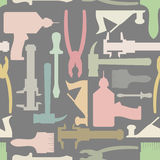 Construction tools seamless Pattern.  Vector background Stock Photography