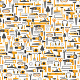 Construction tools seamless pattern Royalty Free Stock Photography