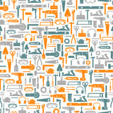 Construction tools seamless pattern Stock Images