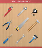 Construction Tools. Set of common tools used for construction, repair and painting Royalty Free Stock Images