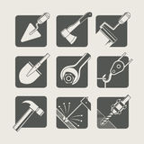 Construction tools. set of vector icons Royalty Free Stock Photography