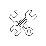 Construction tools symbol Stock Image