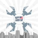 Construction tools to celebrate labor day. Vector illustration Stock Images