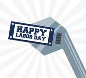Construction tools to celebrate labor day. Vector illustration Stock Photo