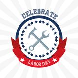 Construction tools to celebrate labor day. Vector illustration Royalty Free Stock Photos