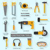 Construction tools vector icons set Royalty Free Stock Photos