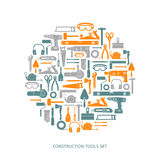 Construction tools vector icons set Royalty Free Stock Photo