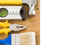 Construction tools on white Royalty Free Stock Images