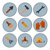 Construction tools worker equipment house renovation handyman vector illustration. Stock Image