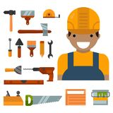 Construction tools worker equipment Stock Image