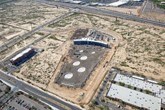 Construction of Top Golf in Scottsdale Royalty Free Stock Images