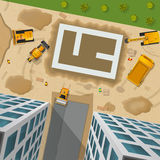 Construction Top View Poster Royalty Free Stock Images