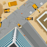 Construction Top View Poster Stock Images