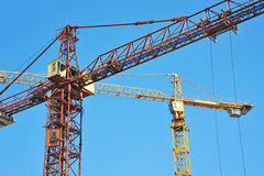 Construction tower crane Royalty Free Stock Images