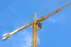 Construction tower crane Stock Images