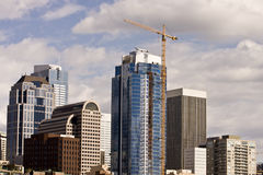Construction Tower in Seattle Stock Photography