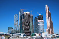 Construction of Towers business center Stock Photos
