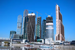 Construction of Towers business center Stock Photography