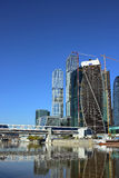 Construction of Towers Evolution business center M. Oscow City on May 07, 2013 in Moscow Royalty Free Stock Photos