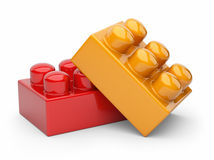 Construction toy block 3D. Isolated Royalty Free Stock Photography