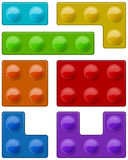 Construction toy block pieces Royalty Free Stock Image
