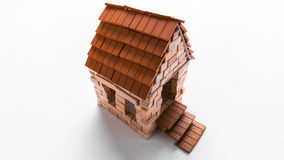 Construction of toy brick house Royalty Free Stock Photography