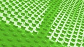 construction toy bricks green surface backgrounf 3d illusration Stock Photos