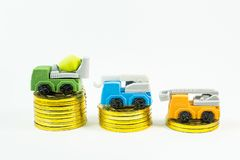 The construction toy car on white background image. Construction toy car on white background image stock photo