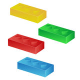 Construction toy cubes. Connector bricks. 3D isometric set. Eps10 Stock Images