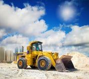 Construction tractor in Dubai stock image