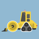 Construction tractor transportation vehicle mover road machine equipment vector. Stock Photography
