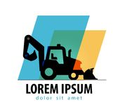 Construction tractor vector logo design template Royalty Free Stock Photo
