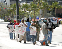 Construction Trade Workers Labor Strike Stock Images