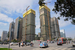 Construction and traffic,Chengdu Stock Photos