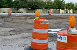Construction/Traffic Safety Barrel Royalty Free Stock Image