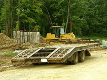 Construction - Trailer Hauler Stock Photo