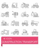 Construction transport icon set Royalty Free Stock Photography