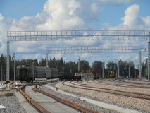 Construction, transport, shipping, railfreight, railway Stock Photos