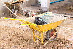 Construction trolley. Royalty Free Stock Image