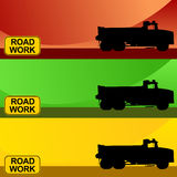 Construction Truck Banner Set Stock Photo