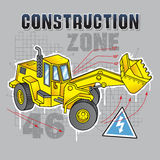 Construction truck blueprint Stock Photos