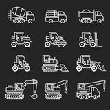 Construction truck icon set. Royalty Free Stock Image