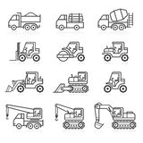 Construction truck icon set. Stock Image