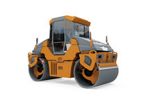 Construction truck isolated view Royalty Free Stock Photo
