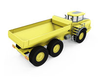 Construction truck isolated view Royalty Free Stock Photos