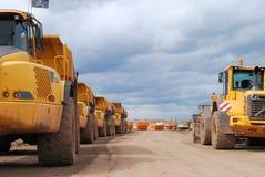 Construction trucks Stock Images
