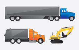 Construction trucks Stock Image