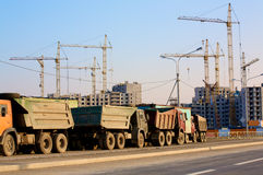 Construction Trucks Royalty Free Stock Images